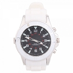 HD 720P Night Vision Spy Hidden Camera Recorder Watch + Long Standby Silver White