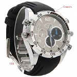 4GB 1080P Spy Watch Waterproof Night Vision Hidden Camera Black