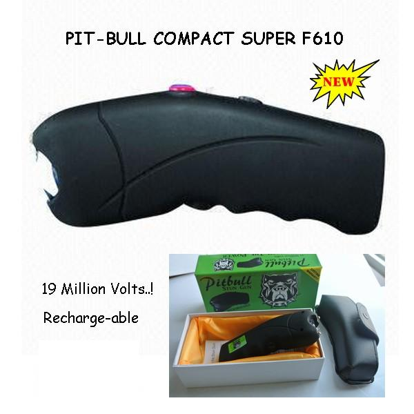 Pitbull 19 Million Volt Stun Gun Curved Compact Design