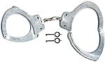 Smith & Wesson Oversized Satin Nickel Handcuffs