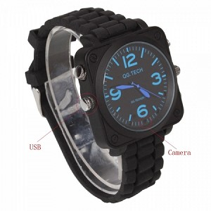 8GB 1080P HD Waterproof Watch Spy Camera IR Night Vision Video Recorder Black