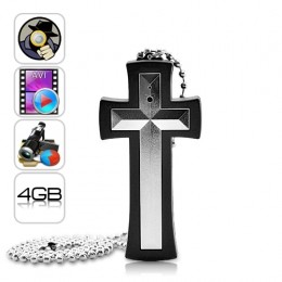 Cross Necklace Hidden Camera Mini DVR Spy Camera