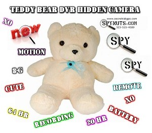 Xtreme Life Teddy Bear Hidden Camera Spy DVR